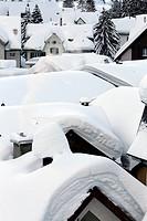 Andermatt in winter, Uri, Switzerland