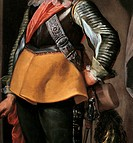 Portrait of a Man at Arms, by Nuvolone Carlo Francesco, 17th Century, 1650, oil on canvas, cm 216 x 117
