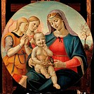 Madonna and Child with Angels, by Piero di Lorenzo known as Piero di Cosimo, 16th Century, 1500_1510, oil and tempera, cm x 78 diametro