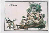 Districts of Siena: allegorical floats,