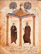 Evangels Syriac term, 586_VI Century, illumination on vellum paper, mm 335 x 255