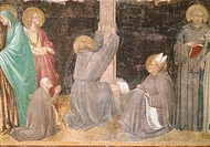 The Tree of the Cross L´Albero della Croce, by Taddeo Gaddi, 1335 _ 1340, 14th Century, fresco
