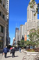 North Michigan Avenue´s Magnificent Mile, Chicago´s most fashionable shopping street, Chicago, Illinois, United States of America, North America