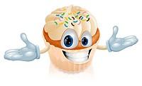 Cup cake mascot illustration