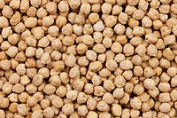 Full frame background chickpeas