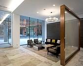 123 Victoria Street, London, United Kingdom. Architect: MoreySmith, 2012. Overall interior view of reception area.