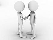 3d man business handshake