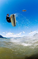Kite surfer  Squamish  British Columbia  Canada