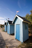 beach huts in Nallikari Oulu Finland