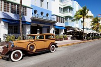 An Old Buick Car on Ocean Drive, South Beach, Miami Beach, USA