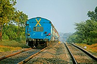 Train on Railroad track, Pune, Maharashtra, India