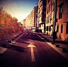 Street in Madrid Rio, Madrid, Spain