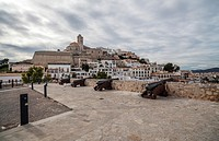 ibiza,balearic islands,spain old town,dalt vila