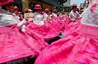 Candelaria folk parade in Lima downtown  Peru