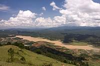 Landschaft am Berg Langbiang, Ausflugsziel zentrales Hochland bei Dalat, Vietnam, Asien