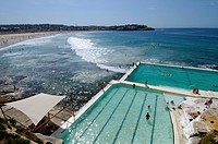 Swimmers in the Icebergs pool Bondi Beach, Sydney, New South Wales, Australia