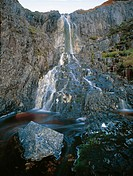 Plateau Creek waterfall Cradle Valley, Cradle Mountain_Lake St Clair National Park, Tasmania, Australia