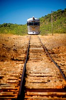 The Savannah lander train runs weekly from Cairns to Forsayth, Einasleigh, Gulf Savannah, Queensland, Australia