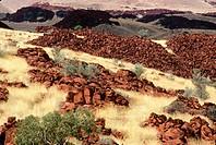Basalt boulders, Millstream_Chichester National Park, Pilbara region, Western Australia