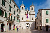 Europe, Montenegro, Kotor, Old Town, Luke Square, St Nicholas Church