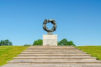 OSLO _ SEPTEMBER 7: Statues in Vigeland park in Oslo, Norway on September 7, 2012. The park covers 80 acres and features 212 bronze and granite sculpt...
