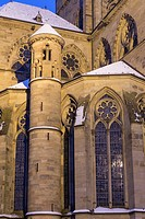 Church of Our Lady, illuminated at night, World Heritage Site, Trier, Rhineland-Palatinate, Germany