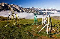Bicycle Sculptures at the Col d´Aubisque - Cauterets - Aquitaine - Hautes Pyrenees - France - Europe