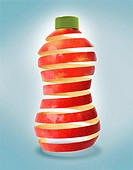 Illustrative image of an apple juice bottle