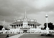 The Moonlight Pavilion Preah Thineang Chan Chhaya of the Royal Palace in Phnom Penh in Cambodia