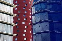 Porta Fira Hotel by Toyo Ito  Barcelona  Catalunya  Spain