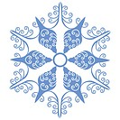 Isolated snowflake 01