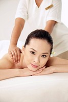 Woman enjoying body massage