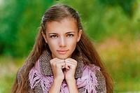 portrait closeup of beautiful young woman