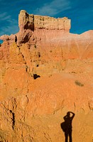 Shadow of photographer in Bryce Canyon, Utah