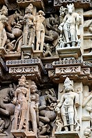 Parsvanath Jain Temple, Khajuraho, India  Parsvanath Temple, the largest of the Jaintemples in the walled enclosure, is notablefor the exceptional ski...