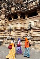 Khajuraho, Madhya Pradesh, India  Vishvanath temple.
