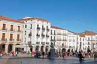 Main square, Caceres. Extremadura, Spain