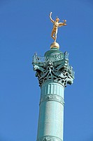 July column on the Place de la Bastille, Paris, France
