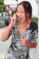Mad woman on the phone