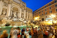 Italy, Lazio, Rome, Trevi Fountain at Night