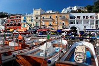 Italy, Campania, Capri, Marina Grande, the harbour