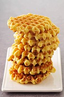Plie of waffles