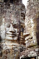 Bayon Temple - stone faces, Angkor Thom, Angkor Temple Complex, Siem Reap Province, Cambodia, Asia