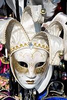 Mask of the Venice Carnival, Venice, Veneto, Italy, Western Europe
