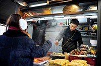 SEOUL SOUTH KOREA Street food vendor