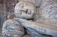 Reclining Buddha in Gal Vihara, Polonnaruwa