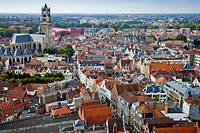 Panoramic view of Bruges.