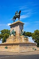 Equestrian statue.