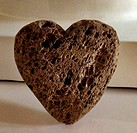 Close up of heart shaped rock