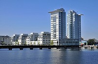 Twin Towers, Spree, Osthafen, Berlin, Germany / East Port